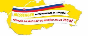 Přeprava do Bratislavy do druhého dne za 350 Kč