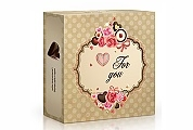 For you - čokoládová srdíčka 45g - balení 3 ks