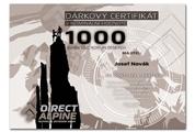 Dárkový poukaz na nákup v Direct Alpine v hodnotě 1000 Kč
